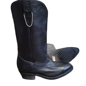 Harley'Davidson western Black Leather Boots 7.5 M